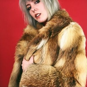 VTG 70s Evans Red Fox Fur Coat- EUC